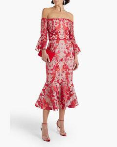 'Sea Lily' dual-material dress