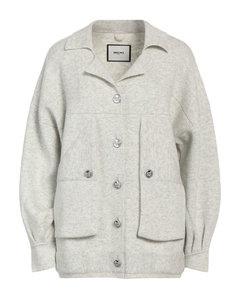 Wool-blend piquéwide-leg pants
