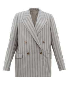 Janny double-breasted pinstriped wool jacket