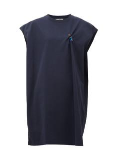 Ering crystal-brooch cotton-jersey T-shirt dress