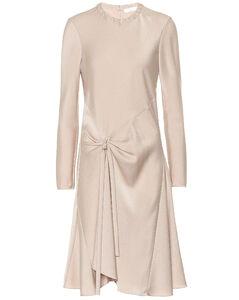 缎布绉纱连衣裙