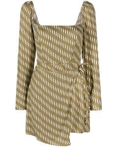 Striped Cotton Blend Skirt