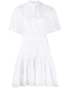 英式刺绣衬衫裙
