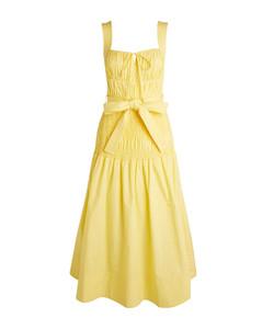 Smocked Cotton Midi Dress