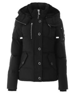 Puffer Jackets Moose Knuckles for Women Blackwblack