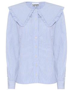 条纹棉质府绸衬衫
