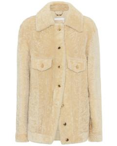 羊毛皮衬衫式夹克