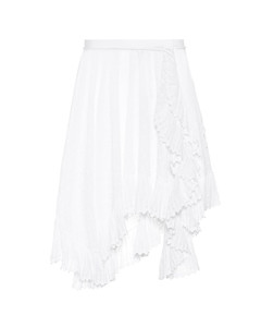 Zanna embroidered cotton miniskirt