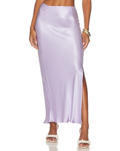 皮革中长连衣裙