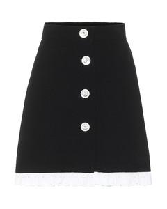 Wool and silk miniskirt