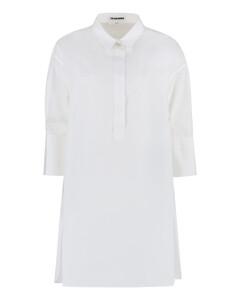 Rosette appliquésilk-taffeta dress