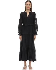 Likoya Long Ruffled Cotton Dress