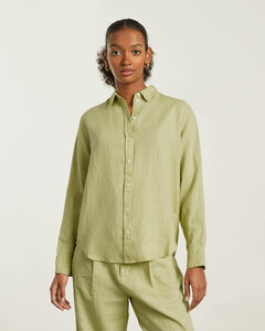 Floral print ramie asymmetrical dress