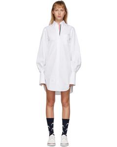 白色Classic衬衫连衣裙