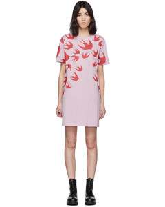 SSENSE发售粉色Swallow T恤连衣裙
