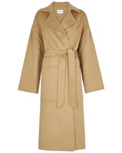 Alamo camel wool-blend coat