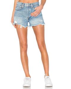 PARKER复古剪口短裤