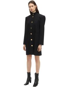 Fluid Wool Twill Dress