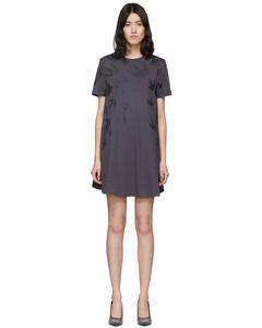 黑色Swallow T恤连衣裙