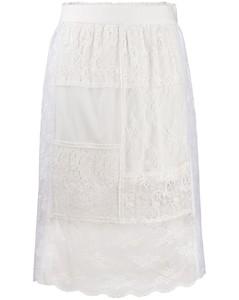 蕾丝拼接直筒半身裙