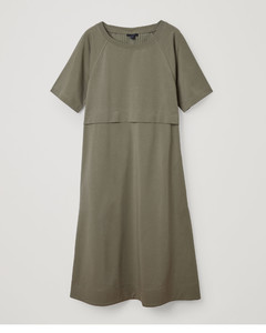 COTTON DRESS WITH PLEATED DETAIL