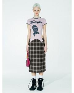 Trench裹身设计中长连衣裙