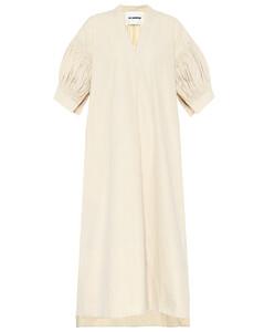 棉质府绸中长连衣裙