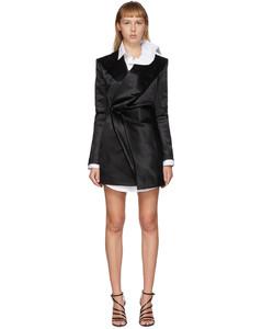 黑色Pop-Up西装外套连衣裙