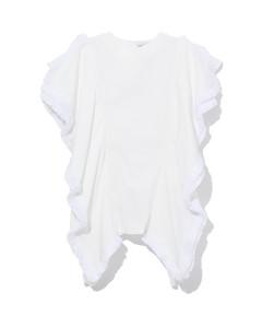 花卉印花纯棉府绸中长连衣裙