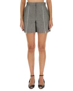 动物纹棉质衬衫裙