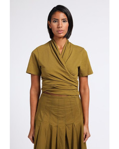 Merla floral-panel linen dress