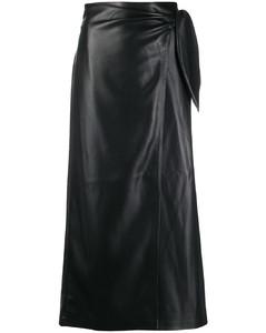 裹身式半身人造皮裙