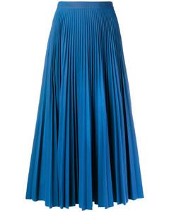 褶饰中长款半身裙