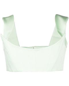 中长粗花呢百褶半身裙