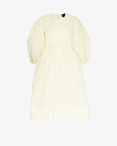puff sleeve smock dress