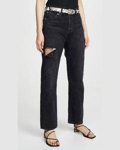 90年代风格中腰宽松版牛仔裤