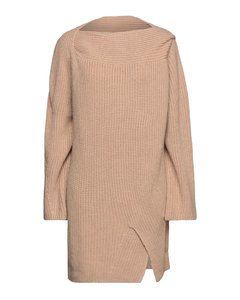 Women's Ruffle Midi Dress with Cut Out Back - Cream