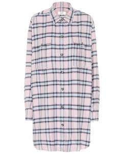 Iceo checked cotton shirt dress