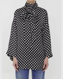 条纹印花连衣裙