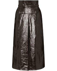 中长束腰高腰半身裙