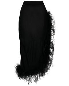 黑色拉链长款连衣裙