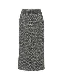 Wool and alpaca-blend pencil skirt