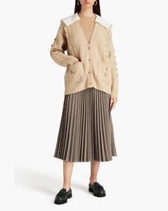 Katherine不对称烧花雪纺绸裹身连衣裙