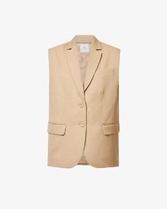 Hudson V-neck stretch-knit midi dress