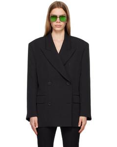 Monogram Stripe Print Crepe Pleated Skirt