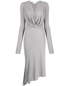 亚麻棉质混纺不对称半身裙