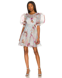 Fedora striped cotton dress