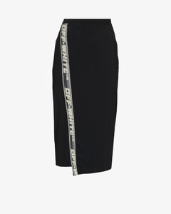 Black Cotton Rib Dress