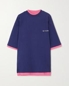 大廓形正反两穿印花纯棉平纹布T恤