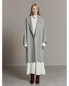 Cold-shoulder belted striped woven dress